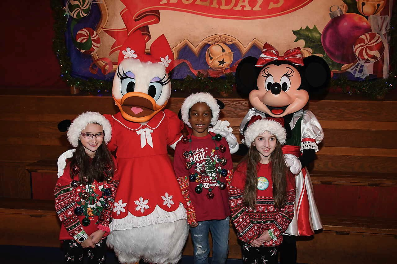 Mickey's Very Merry Christmas Party 2019 with Daisy Duck and Minnie Mouse Plus Blogger AnnMarie John's Daughter
