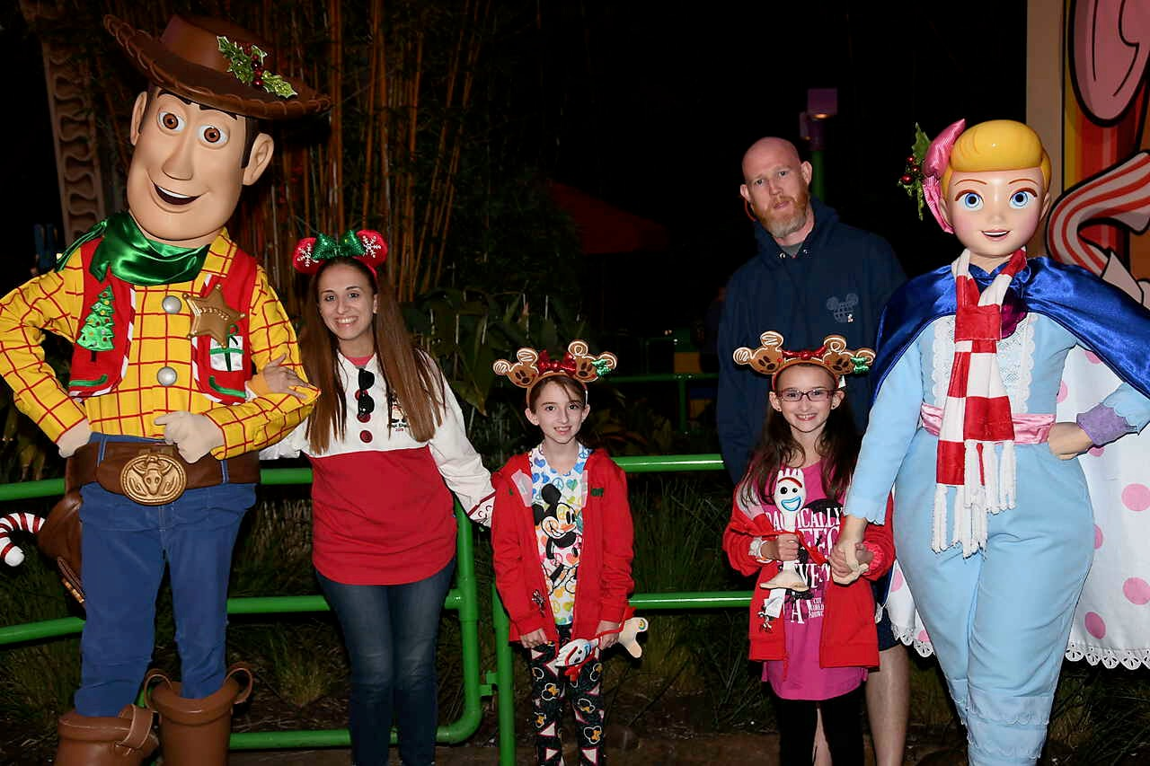 Meeting Woody and Jessie in Disney Hollywood Studios Toy Story Land