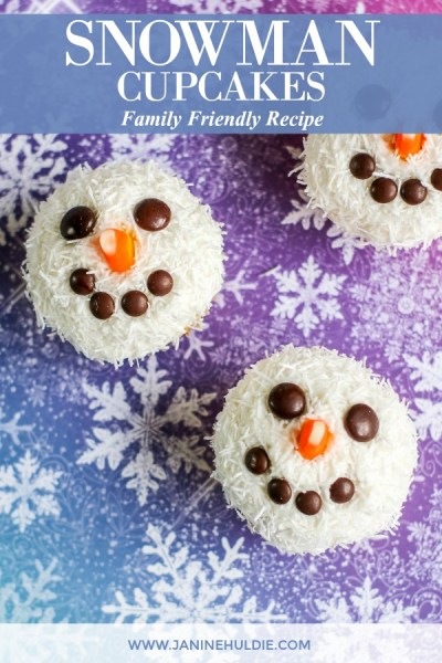 Snowman Cupcakes Recipe Featured Image