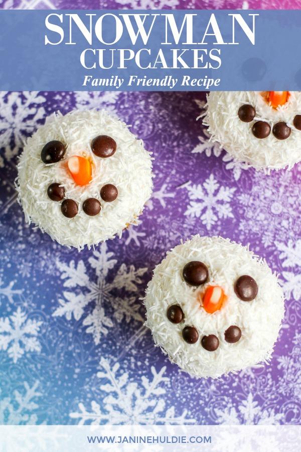 Snowman Cupcakes Recipe Featured Image