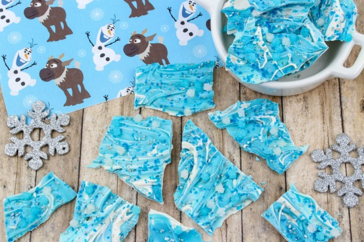 Disney's Frozen Chocolate Bark Candy