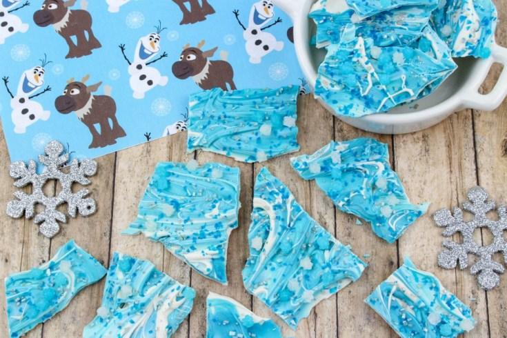 Disney's Frozen Chocolate Bark Candy