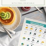 How to Plan The Perfect Staycation Menu with FREE Printable