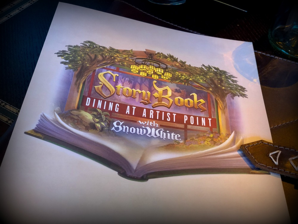 Disney World Storybook Dining Menu