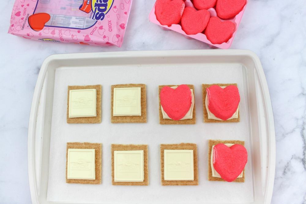 Valentine Peeps Smores In Process 2