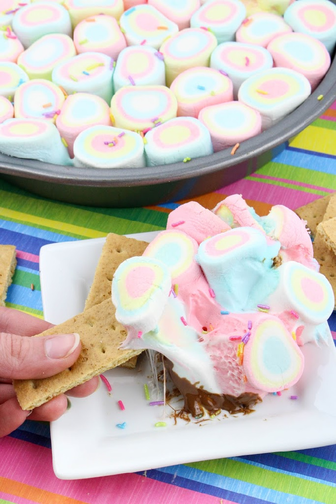 Rainbow S'Mores Dip, This Mom's Confessions