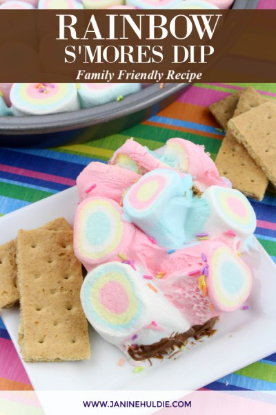 Rainbow S'mores Dip Recipe Featured Image copy