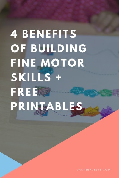 Building Fine Motor Skills with Free Printables