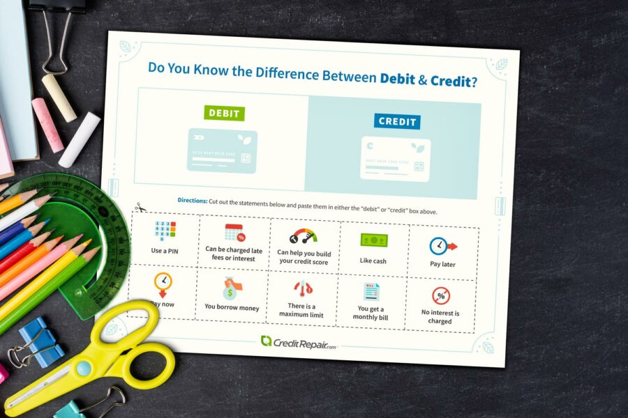 difference-between-credit-and-debit-activity-with-scissors-900x600