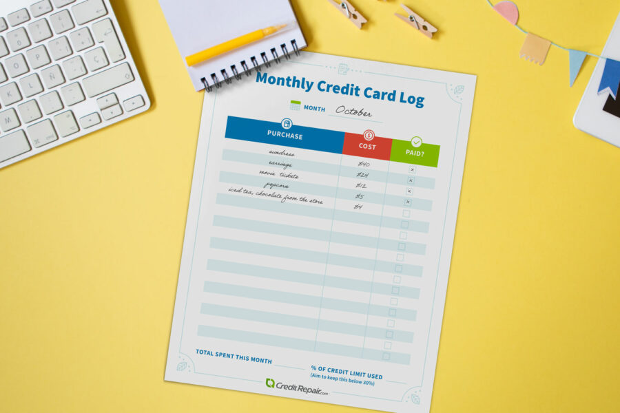 monthly-credit-card-log-on-yellow-desk-900x600