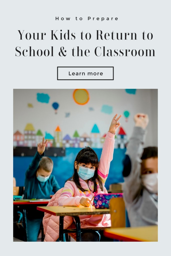 Return to School and the Classroom for Kids now