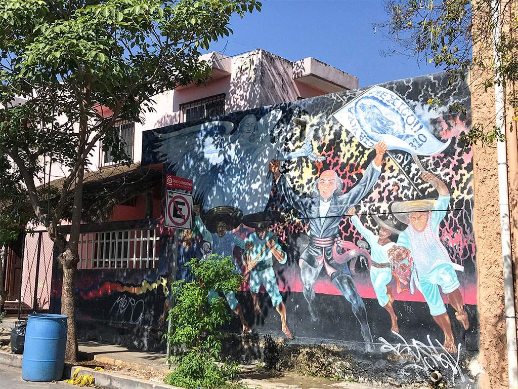 There is tons of beautiful street art to be discovered in Playa del Carmen