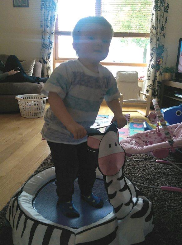 Worlds Apart GetGo A-Zebra Toddler Trampoline