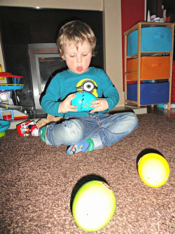 Matthew playing WOW eggs