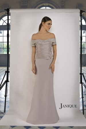 Banded Bodice Shimmer Gown