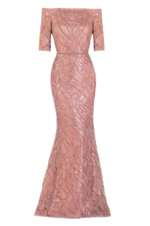 Sleek Beaded Gown