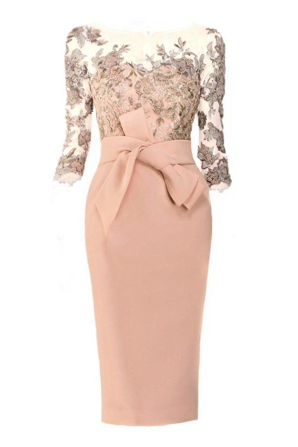 Lace and Bead adorned cocktail dress