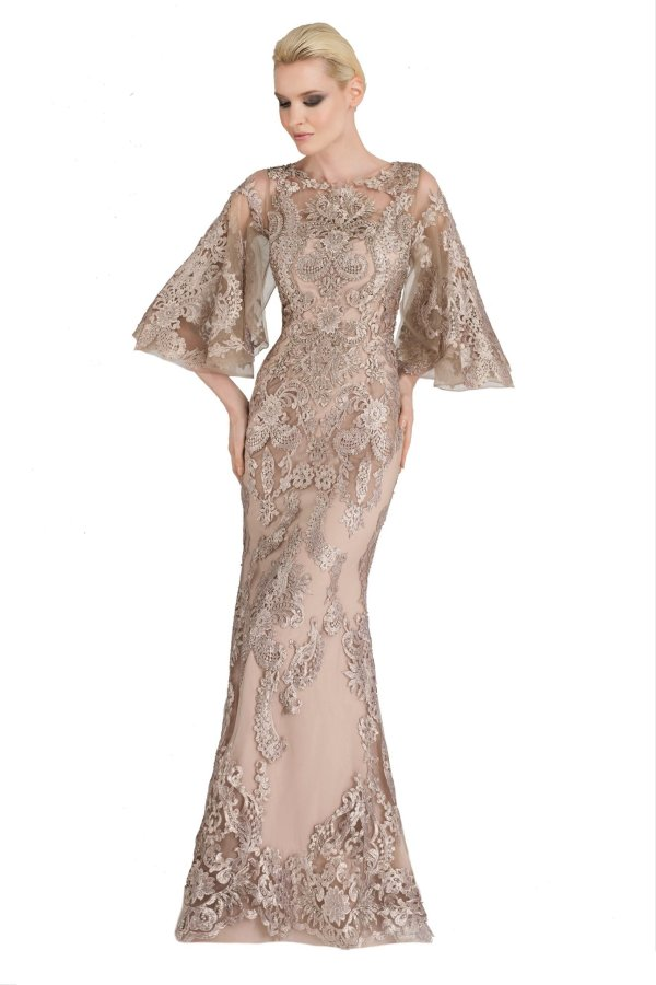 w2073 champagne lace dress