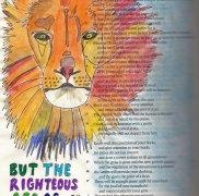 fuzzy lion small-watercolour-lion-Bible