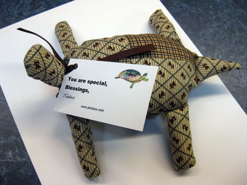 Stuffed Tadeo Turtle - Janis Cox