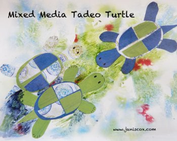 Mixed Media Tadeo Turtle