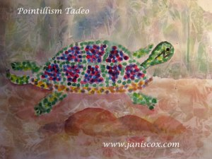 Pointillism Tadeo Turtle