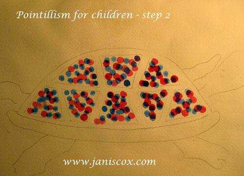 Pointillism Tadeo Turtle Step 2