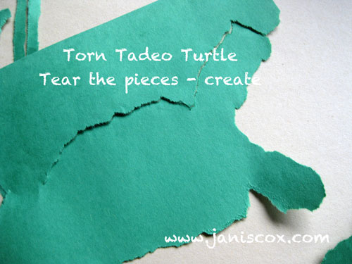 Torn Tadeo - learning to tear the paper