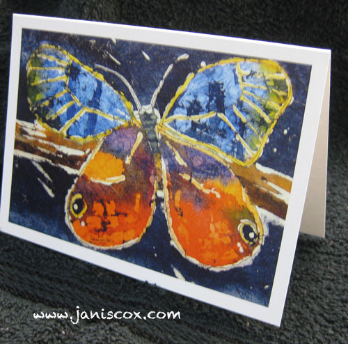 Butterfly Watercolour Batik by Janis Cox
