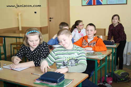 Class in Poland enjoying Tadeo Turtle activities