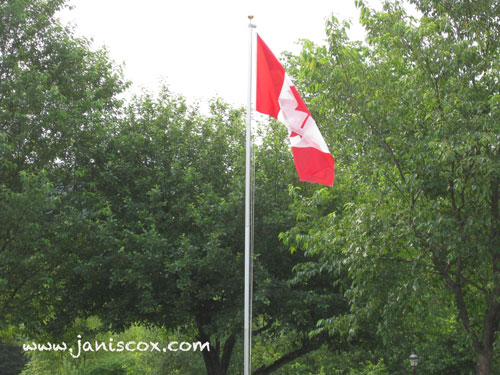 Canadian Flag on our front yard