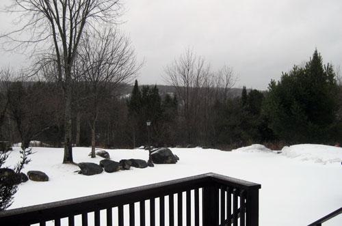 Snow in Haliburton