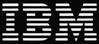 IBM logo (8 liner - white on black)