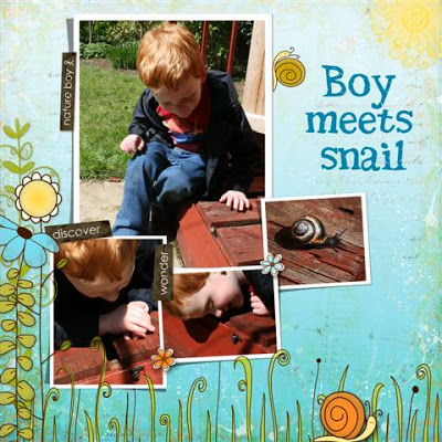 Boy meets snail