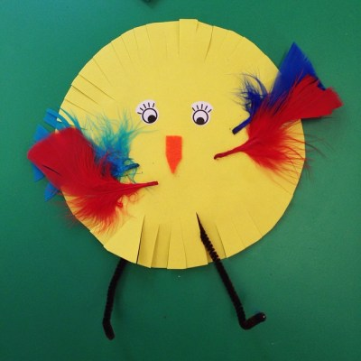 Easy Easter Toddler craft at toddler group this morning