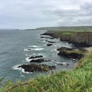 Walking along the coastal path near Dunseverick