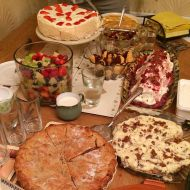 Birthday desserts at a 50th party