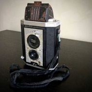 Found my Dad's first camera – a Kodak Brownie Reflex TLR camera – he bought it for the Festival of Britain in London in 1951