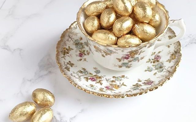Golden eggs and vintage china …. just because!