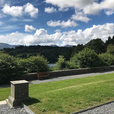 Love the view from Castlewellan Castle