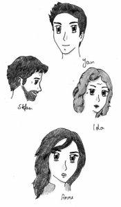 Familie Kerscher: Stefan, Ida und Anne Kerscher