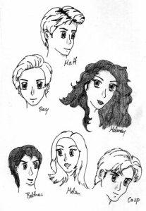 Matts Familie: Ray Traidous, Melaney, Balthas, Casp, Leah