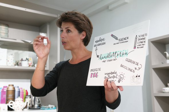 Workshop handletteren Haarlem Studio SuZ