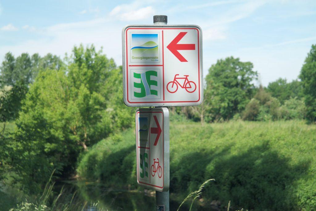 Grenzgängerroute fietsen in Duitsland