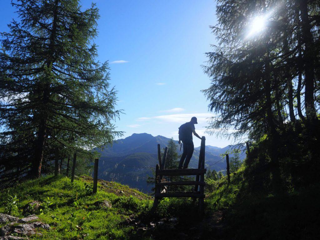 Huttentocht in het Salzburger Land