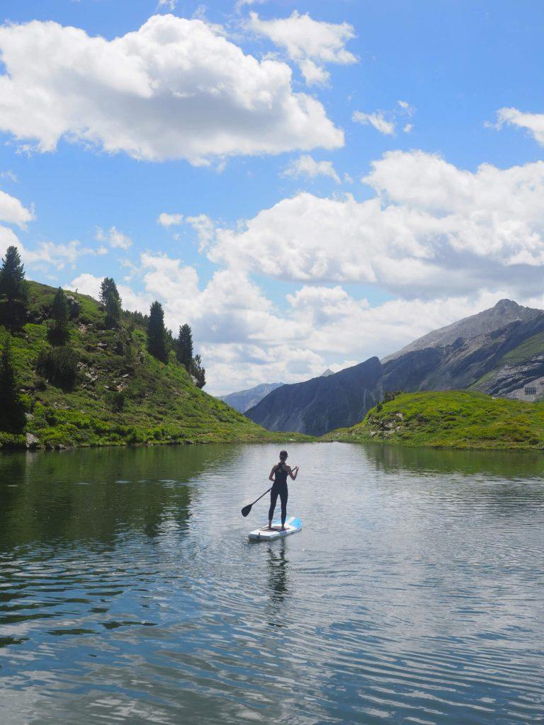SUP op de Krummschnabelsee