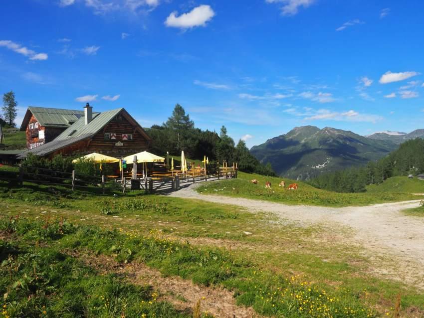 Südwienerhütte huttentocht in het Salzburger Land