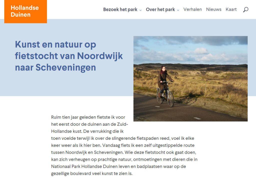 Blog fietsen in Nationaal Park Hollandse Duinen