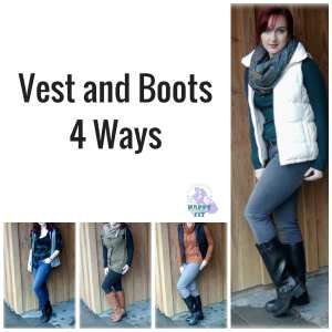 Vest and Boots 4 Ways Fashion Look Book Happy Stylish Fit Lifestyle Blog