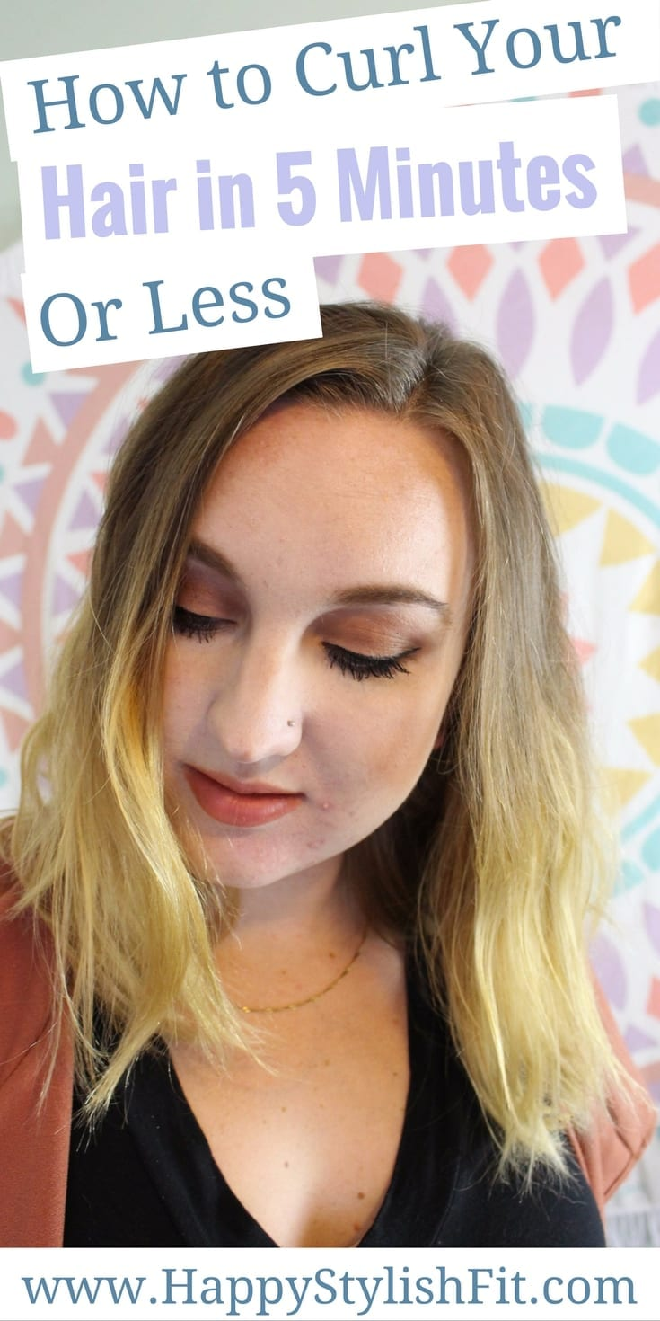 Learn how to curl your hair in 5 minutes or less. Yes, it is possible!
